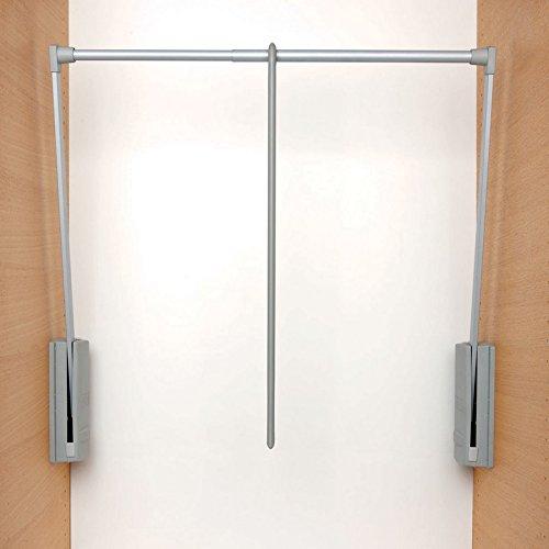 Servetto - Barre de penderie escamotable grise 77 - 120 cm, produit d'origine