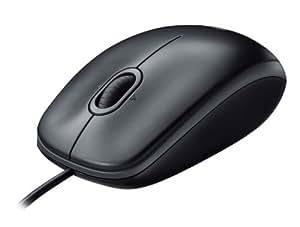 Logitech B110 optische Maus USB schnurgebunden schwarz OEM