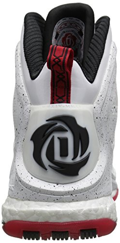 Derrick Rose Basketball 5 Boost Chaussures Adidas Hommes White/Scarlet/Grey/Black