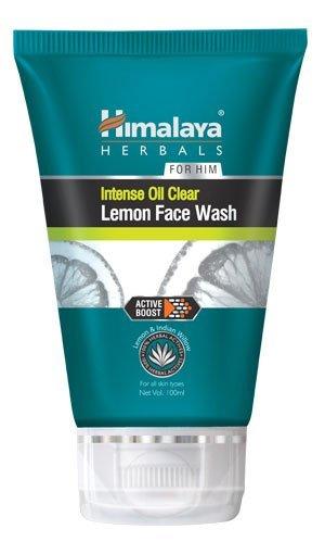 2 x Himalaya Herbal Soapfree Intense à L'Huile clair Citron Nettoyant visage pour buse utilisable et Rafraîchie pour homme 50 ml X 2 = 100 ml