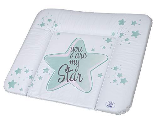 Rotho Babydesign Wickelauflage You are my Star, Ab 0 Monate, TOP, 85 x 72, Swedish Green (Mintgrün), 200620266CJ