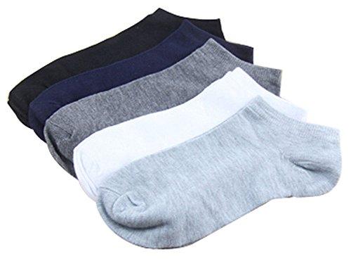 Set de 5 chaussettes courtes chaussettes en coton hommes chaussettes