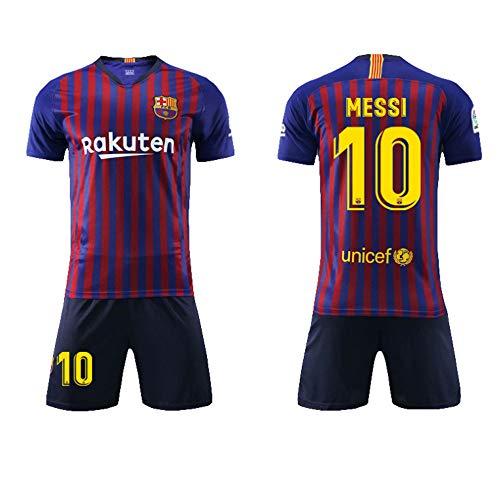 SEYE1° Fußball-T-Shirt, Sportanzug, Barcelona-Trikot, Nr. 10 Messi Fußball-Sportbekleidung, Fußball-Jungen-T-Shirt Für Erwachsene Und Kinder