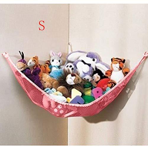 TianranRT Qualität Baby Schlafzimmer Mesh Tasche Kind Spielzeug Lagerung Hängematte Saugen (Rosa,120x80x80)