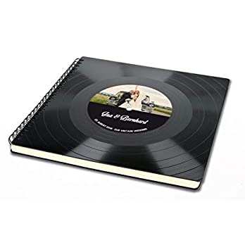 Gästebuch mit deinem Foto – Hochzeitsalbum aus Schallplatte – Musik Hochzeit – Vintage Retro – Retro Geschenk-Idee