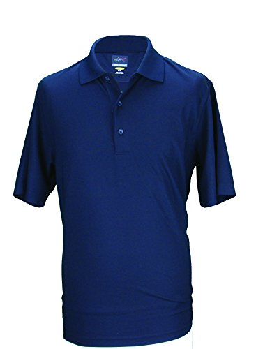 Greg Norman Men's Pro Micro Tek Pique Polo Golf Shirt Technischen Gewebe XS schwarz - schwarz