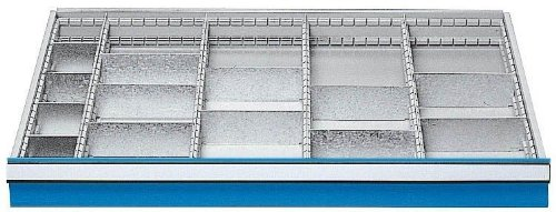 Schubladeneinsatz Serie 1000 Mittelfachschienen mit Trennwänden Schubladenschränke...
