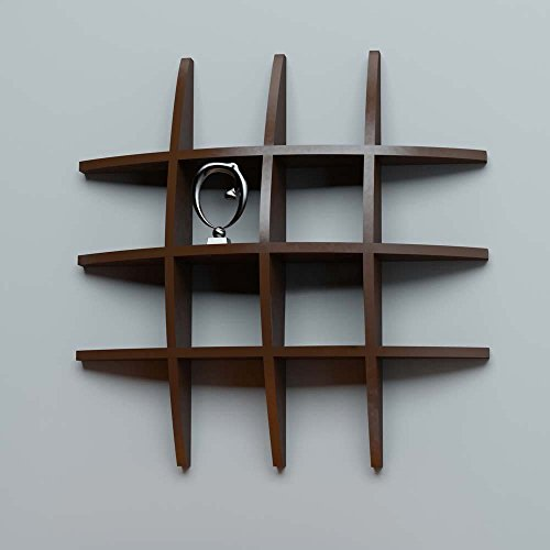 Artesia Wooden Brown Wall Shelf Rack Globe Shape Storage Wall Shelves