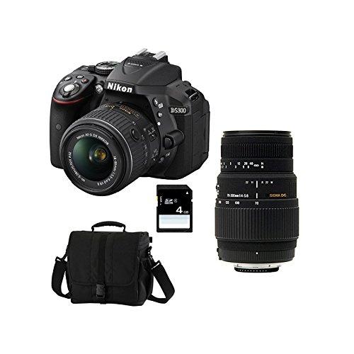Nikon D5300 + 18-55 VR + SIGMA 70-300 DG MACRO + SD 4GB