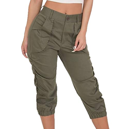 bobo4818 Damen Skinny Jeans Caprihose Treggings Leggings Stoffhose Sommerhose Knielang 3/4 Capri Slim-Fit Übergrößen -