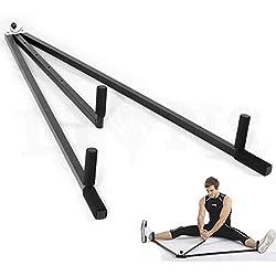 Leones® Heavy Duty 3Bar Pierna Camilla estiramiento artes marciales Máquina Yoga patas Stretch, negro