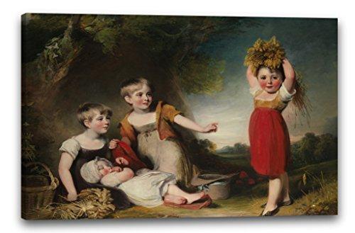Baronet Bar (Printed Paintings Leinwand (100x70cm): William Owen - Die Enkel von Sir William Heathcote, 3. Bar)