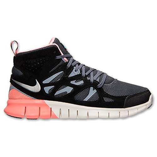 Nike Free Run 2 Sneakerboot Schuhe black-metallic silver-dark grey-atomic pink - 41