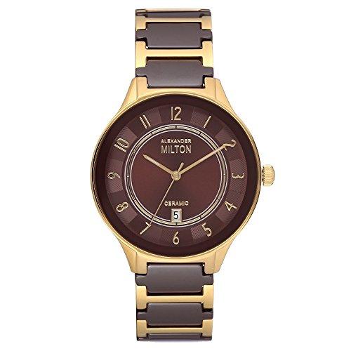 ALEXANDER MILTON - montre homme - GERYON, marron/dore