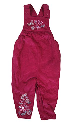 Baby Girl Dungaree Outfits Pink Burgundy Floral Print 0/3 3/6 6/9 9/12 months (3-6 months)