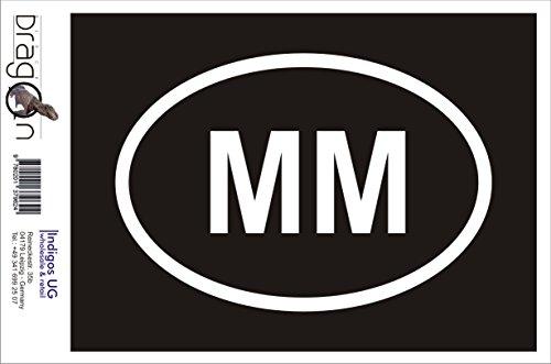 INDIGOS UG Aufkleber Autoaufkleber - JDM Die Cut Auto OEM - Myanmar Mm - 160x110mm pink - Auto Laptop Tuning Sticker Heckscheibe LKW Boot