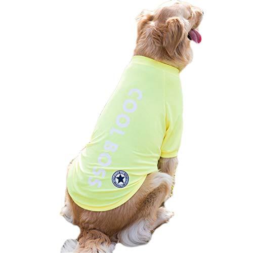 Yslin Übergang Große Kostüme Outdoor Mode Dünne T-Shirt Hunde mit Muster Kleidung Cute Slim Fit Jumpsuit Weiches Atmungsaktiv Verkleidungen