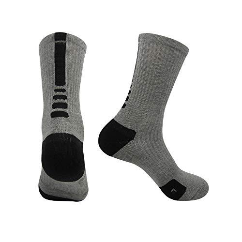r Basketball Sportsocken Draussen Schnell trocknend Terry Hälfte Socken Zum, Bergsteigen, Camping ()