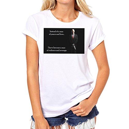 Hitman Quote Movie Background Damen T-Shirt Weiß