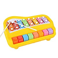 2 in 1 Piano for Kids,aPerfectLife Baby Xylophone Piano Toys Kids Educational Musical Instruments Preschool Toy Knock Playing Birthday Christmas Gift