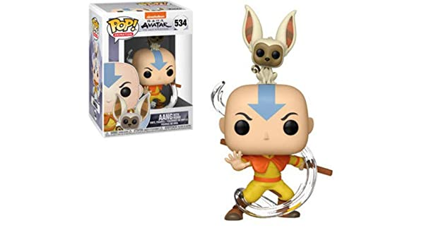 Winged Avatars Of Memory And Return >> Funko Pop Buddy Avatar Aang W Momo Amazon Co Uk Funko