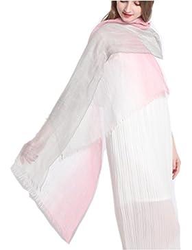 Prettystern - efecto teñido bufanda de la cachemira y seda y luz mixta Verano de lino en colores que funcionan...