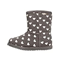 Emu Australia Brumby Heart Kids Wool Waterproof Boots Size UK 12 Charcoal