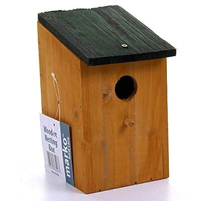 Marko 8 pc Traditional Wooden Nesting Boxes Bird Nest Wood House Small Birds Bluetit by Marko Bird Care