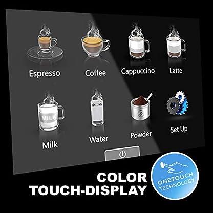 ONE-TOUCH-Kaffeevollautomat-Edelstahlgehuse-schwarz-gebrstet-Caf-Bonitas-Tech1-Touchscreen-Dualboiler-19-Bar–Kaffeeautomat-Kaffeemaschine-Kaffee-Espresso-Latte-Kaffee