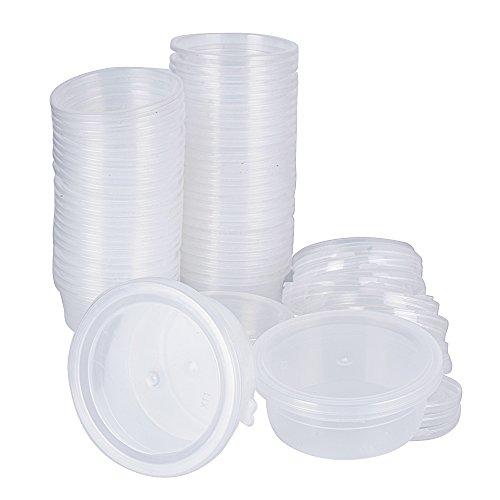 Behälter Container Aufbewahrungsbehälter Schleim Box Slime Zubehör Schaumball Kunststoffbox Plastikbox Vorratsbehälter mit Deckel Transparent 6,8 x 5,5 cm (Kleine Container)