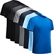 BALENNZ Workout Shirts for Men, Moisture Wicking Quick Dry Active Athletic Men's Gym Performance T Sh