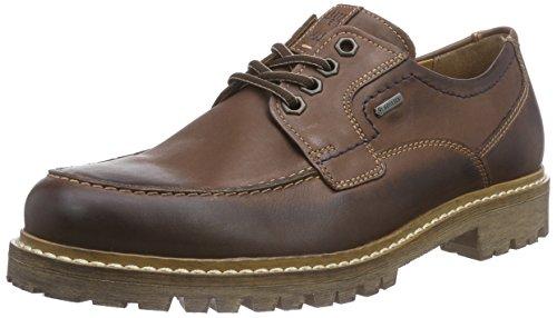 Fretz Men Andrew - Zapatos con Cordones de Cuero Hombre, Color Marrón, Talla 43 2/3