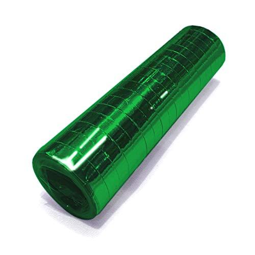 partydiscount24 Luftschlangen Metallic - Freie Farbwahl - 12 Stück Grün (Metallic) - Luftschlangen Grüne