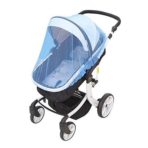 Gauze - Mosquitera flexible para cochecito de bebé, mosquitera para bebé talla única Skyblue