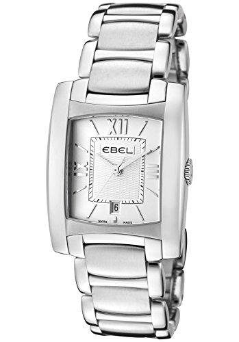 Ebel Brasilia 9257M32-64500 28x28mm Silver Steel Bracelet & Case Synthetic Sapphire Women's Watch