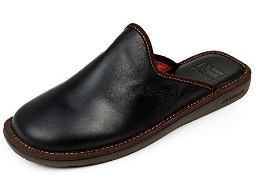 Pantofole da uomo Nordika pelle nero