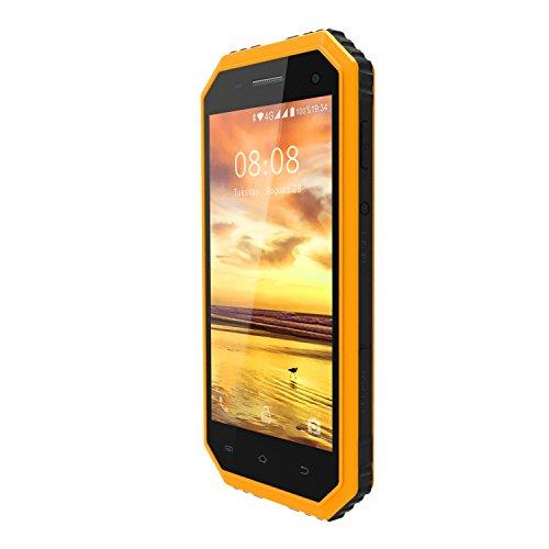 f0d27108f85 Telefonos Resistentes, KENXINDA W6 IP68 Smartphone libre - Android 6.0  Impermeable Antipolvo Antigolpes, 4.5' Pantalla Dual SIM Móvil libre, 1 GB  de RAM+8 ...
