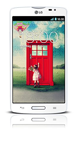LG  L80 Smartphone (12,7 cm (5 Zoll) Touchscreen-Display, 1,2-GHz-Dual-Core-Prozessor, 1GB RAM, 8 Megapixel Kamera, Android 4.4) weiß 1,2-ghz-dual-core