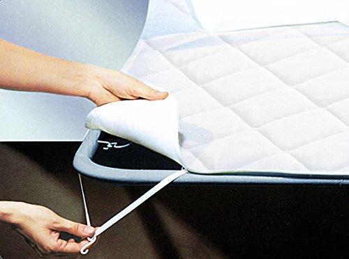 Tata home coprirete copridoghe trapuntato misura 1 piazza singolo misura 90x200 cm con ganci ed elastici per il fissaggio 100% morbida microfibra di poliestere