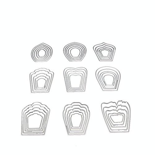 suliforfurnitureanddecor SULIFOR Scrapbooking Prägemesserform Neue Schneeflocke Metall schneiden Form DIY Scrapbook Album papierkarte