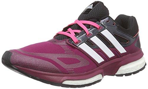 adidas response boost techfit w Damen Laufschuhe, Mehrfarbig (TRIBER/CHWITE/CBLACK), 38 2/3