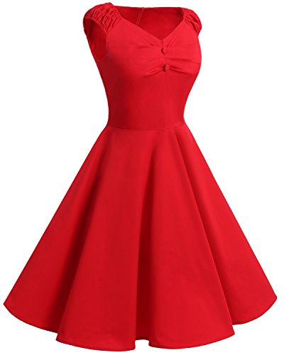 Bbonlinedress modèle 9 Vintage rétro Audrey Hepburn robe de soirée cocktail années 50 forme princesse Navy