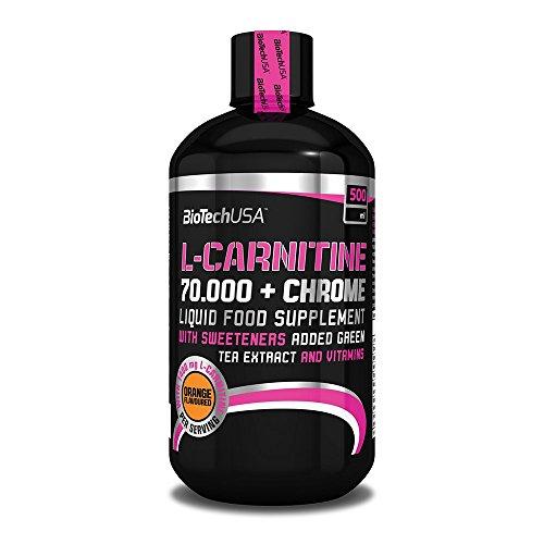 Liquid L-Carnitine 70.000mg + Chrome 500ml Arancia