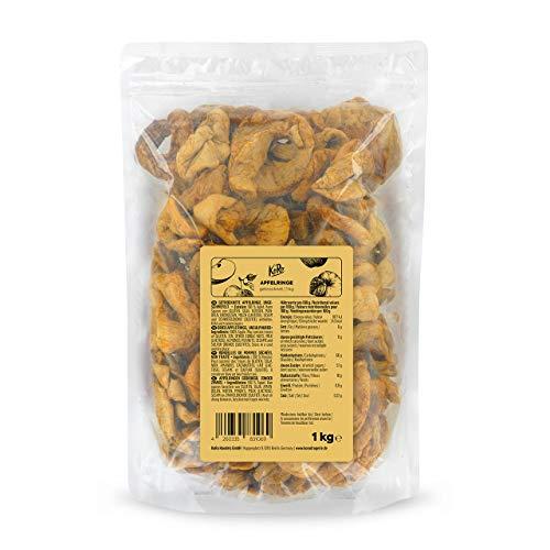 KoRo - Getrocknete Apfelringe 1 kg - Ungezuckerte getrocknete Äpfel als perfekte Knabberei für Zwischendurch