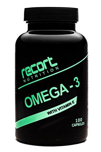Recort Nutrition Omega 3 Fischöl Kapseln hochdosiert | 2000mg Fischöl pro Tagesdosis | 100 Softgel-Kapseln mit EPA DHA und Vitamin E, Reine Fischölkapseln ohne Gentechnik, 100% Made in Germany