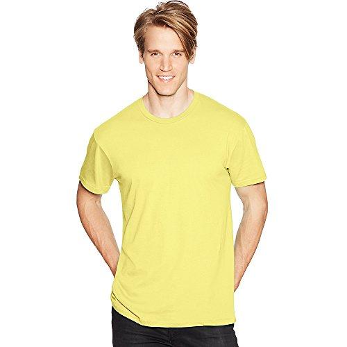 Hanes Mens Nano-T T-Shirt Yellow