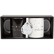 """Hallmark """"tú y yo - la historia de dos"""" juego de taza de café"""