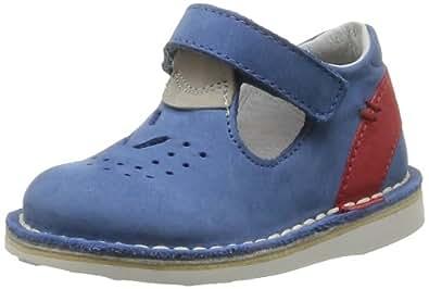Kickers Yard, Chaussures basses à scratch bébé garçon - Bleu (Bleu Rouge), 22 EU