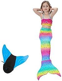OOLOOYOO Sparkle Mermaid Tails, Traje de baño con Aleta, Traje de baño, Traje de baño con Monofin, Colas de Sirena…