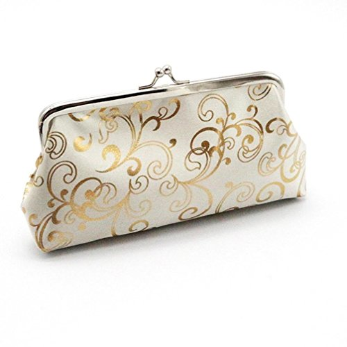 Clutch Aus Weißem Leder Handtaschen (Amlaiworld Womens kleine Brieftasche Karte Halter Münze Geldbörse Clutch Handtasche Tasche (weiss))